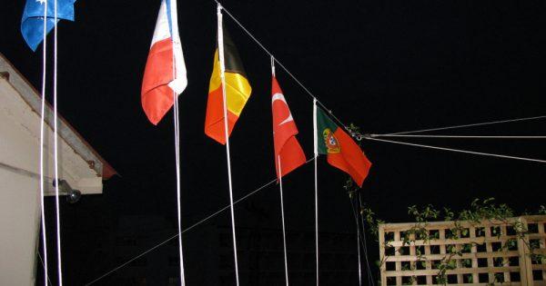 Bandeiras de quem estava na casa