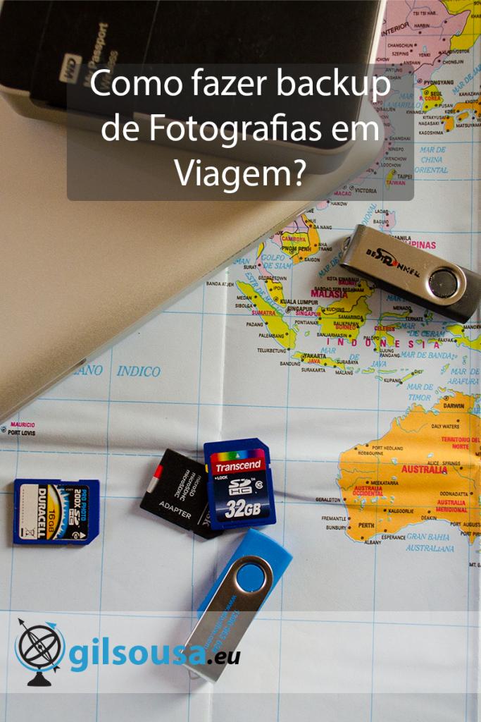Como fazer backup de Fotografias em Viagem?