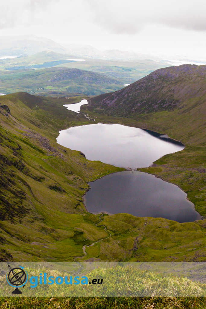 Lakes on the way to Carrauntoohil