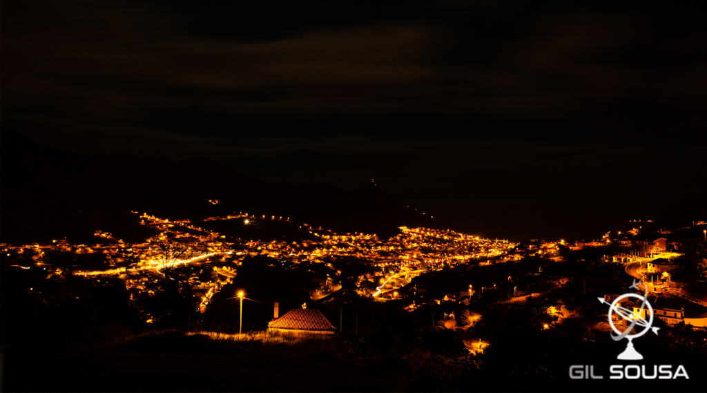 Machico from above at night