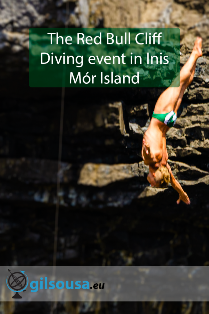 The Red Bull Cliff Diving event in Inis Mór Island