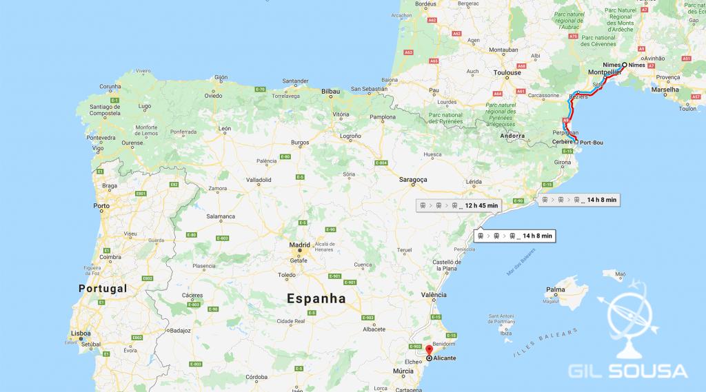 De Nîmes a Alicante