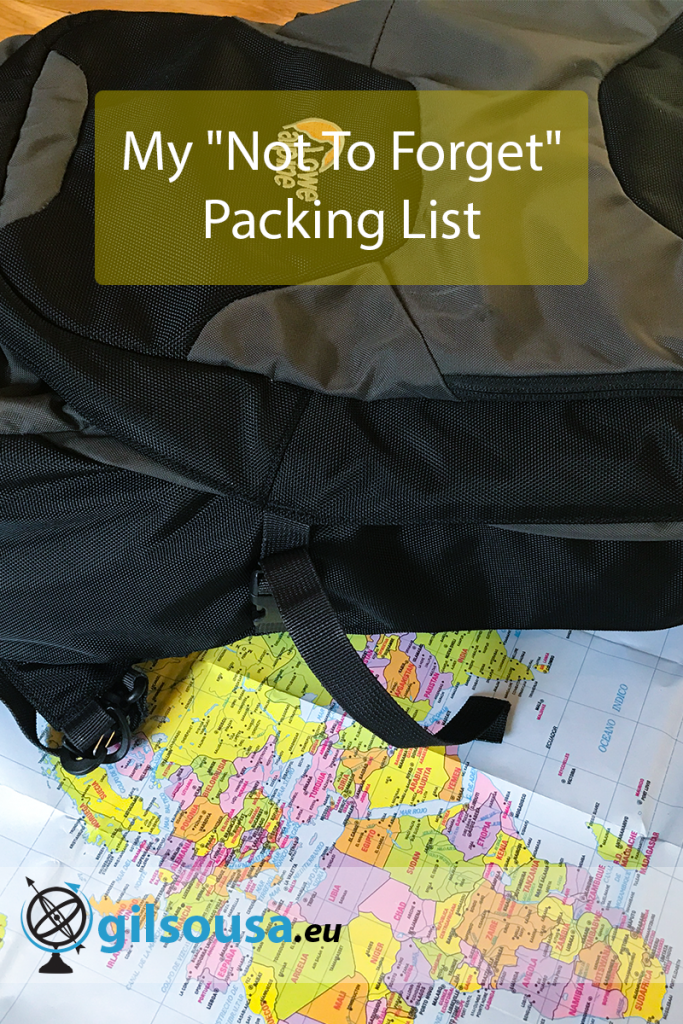 "My ""Not To Forget"" Packing List"