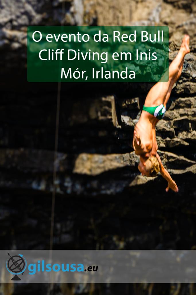 O evento da Red Bull Cliff Diving em Inis Mór, Irlanda
