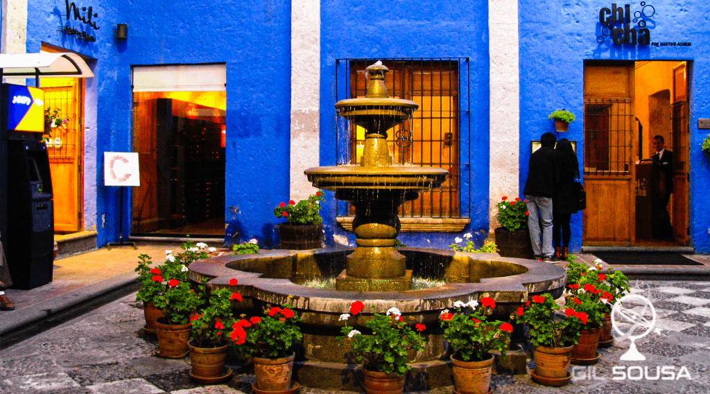 Restaurant yard in Arequipa