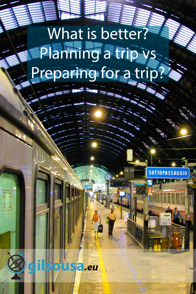 What is better? Planning a trip vs Preparing for a trip?