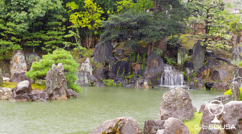 Jardins no Castelo Nijo