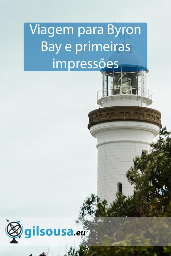 Viagem para Byron Bay e primeiras impressões