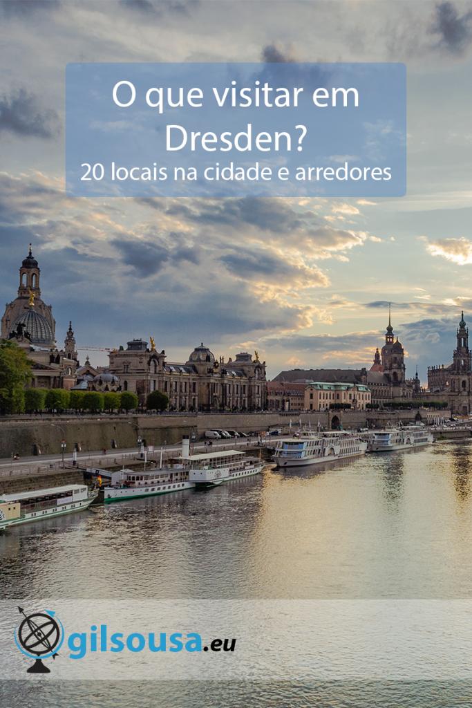 Vista para a Altstadt de Dresden