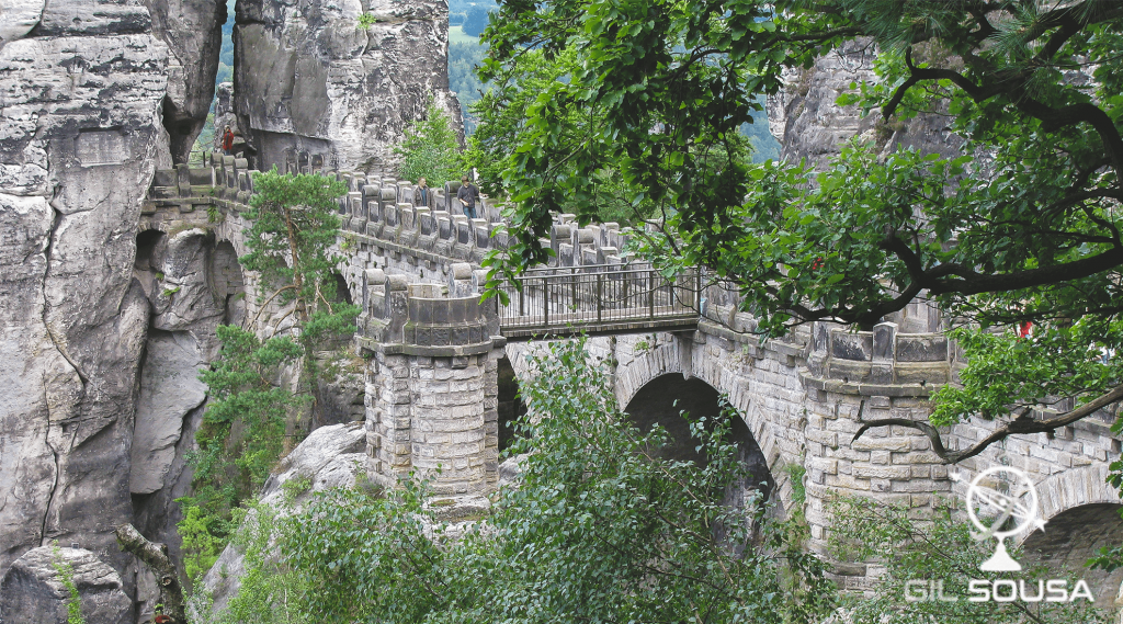 Ponte de Bastei na Suíça Saxónia