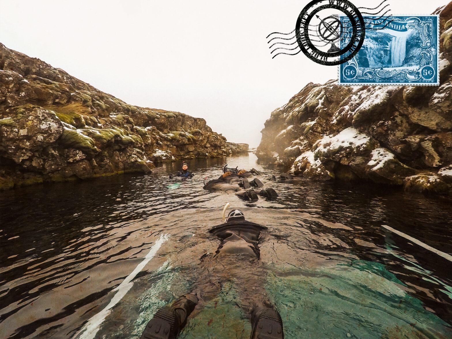 Fissura Silfra, nadar entre Placas Tectónicas na Islândia