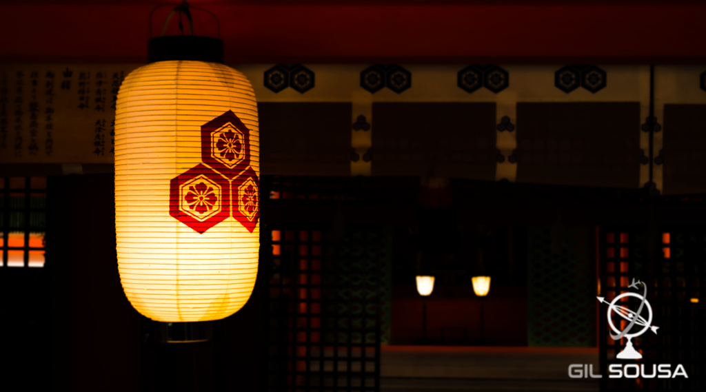 Lantern at the Itsukushima Shrine