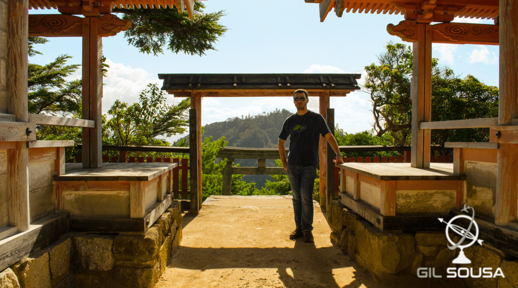 Me at one of Mount Misen's temples