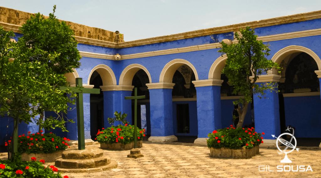 Átrio no Convento de Santa Catalina em Arequipa