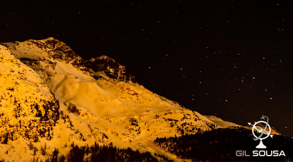 Noite estrelada em São Moritz