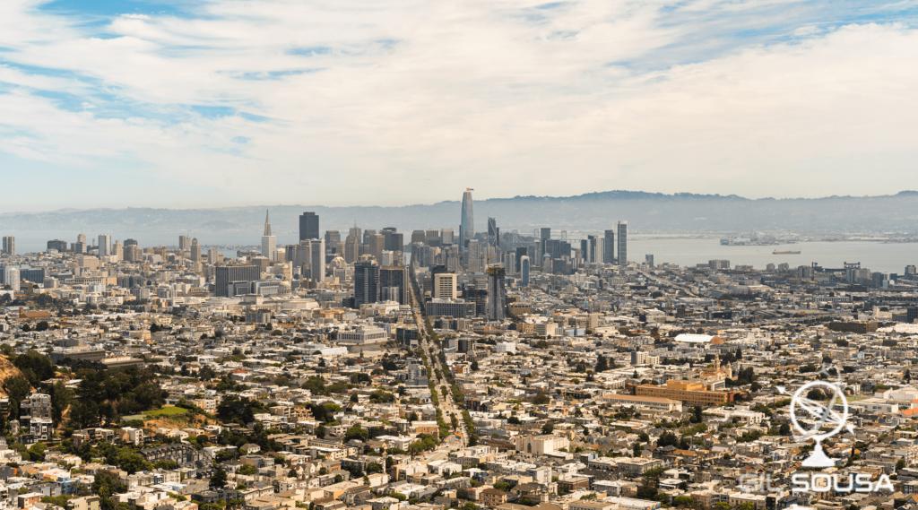Vista de Twin Peaks para São Francisco