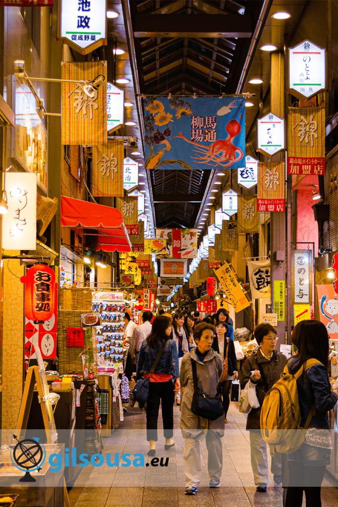 Gion e o Mercado de Comida de Nishiki