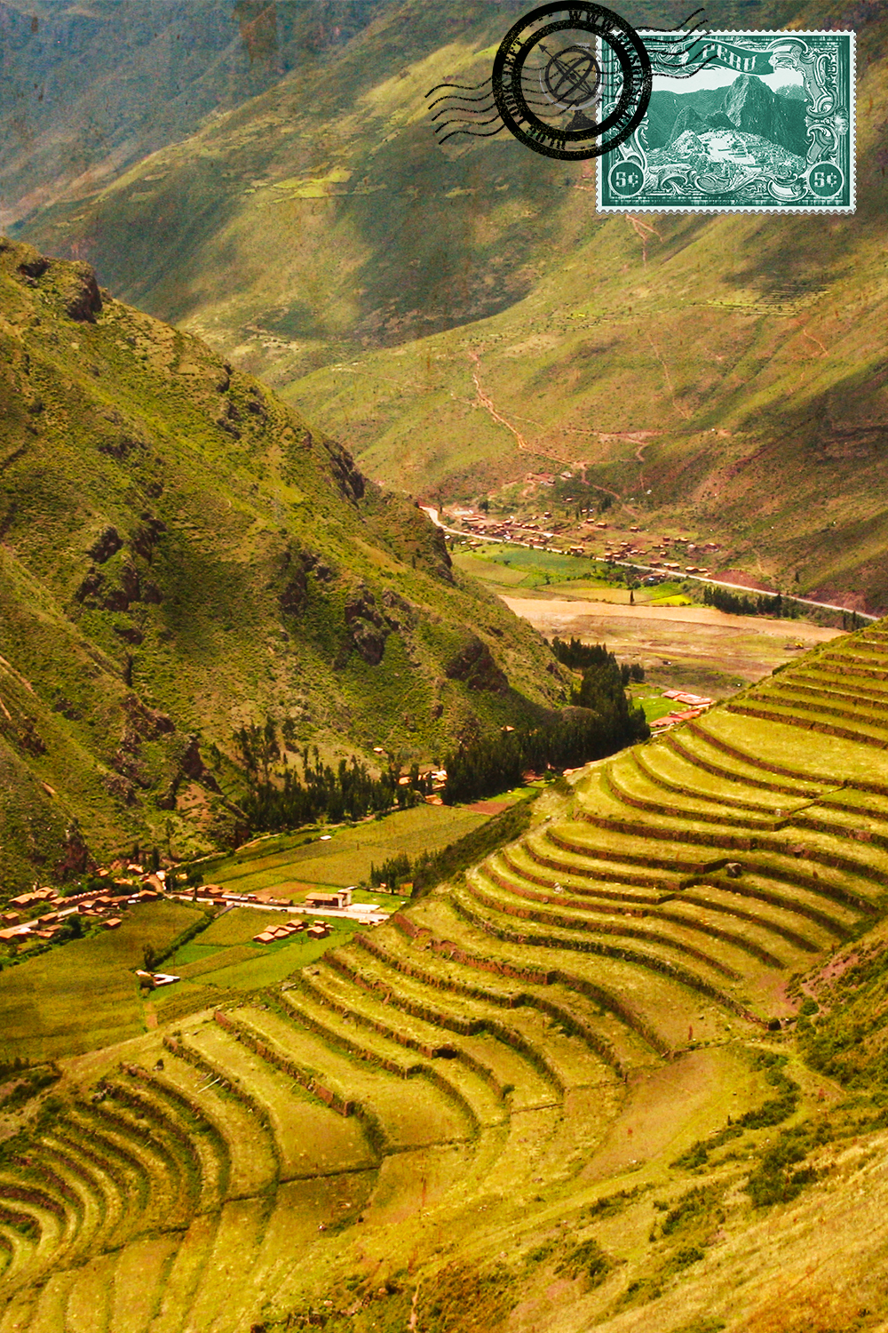 Andenes at the Sacred Valley of the Incas