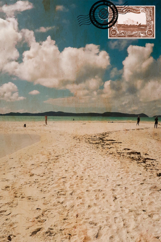 Areias na Whitehaven Beach