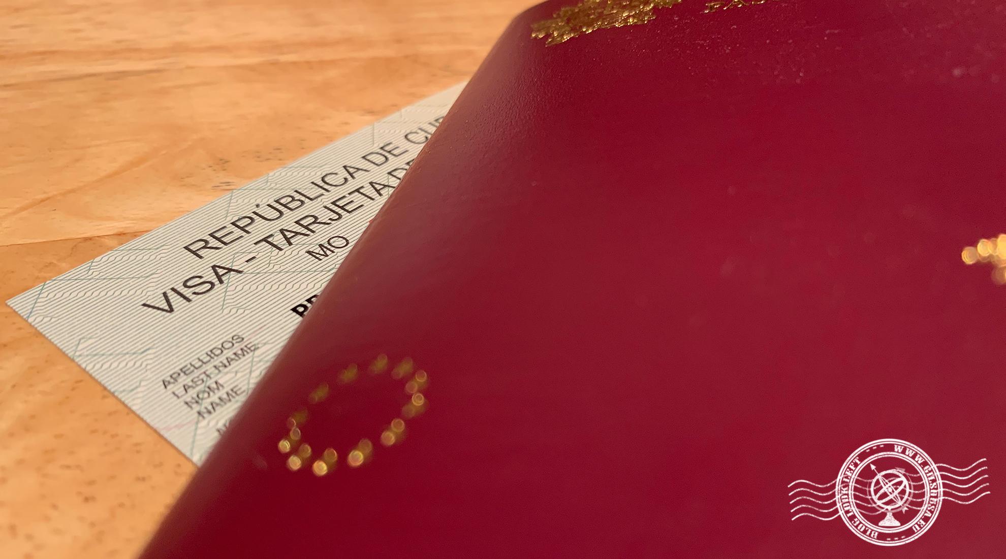 Passaporte e Cartão de Turista