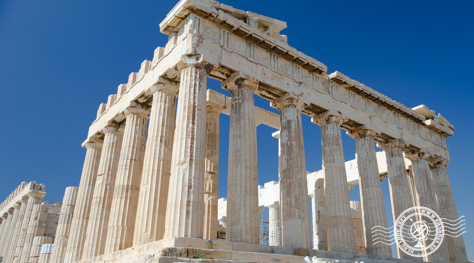 Ruínas do Parthenon na Acrópole