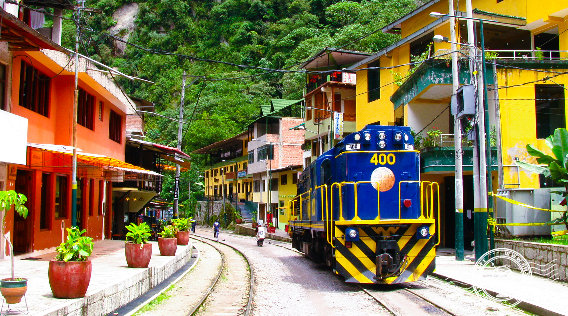 Train in Aguas Calientes, the Machu Picchu Pueblo
