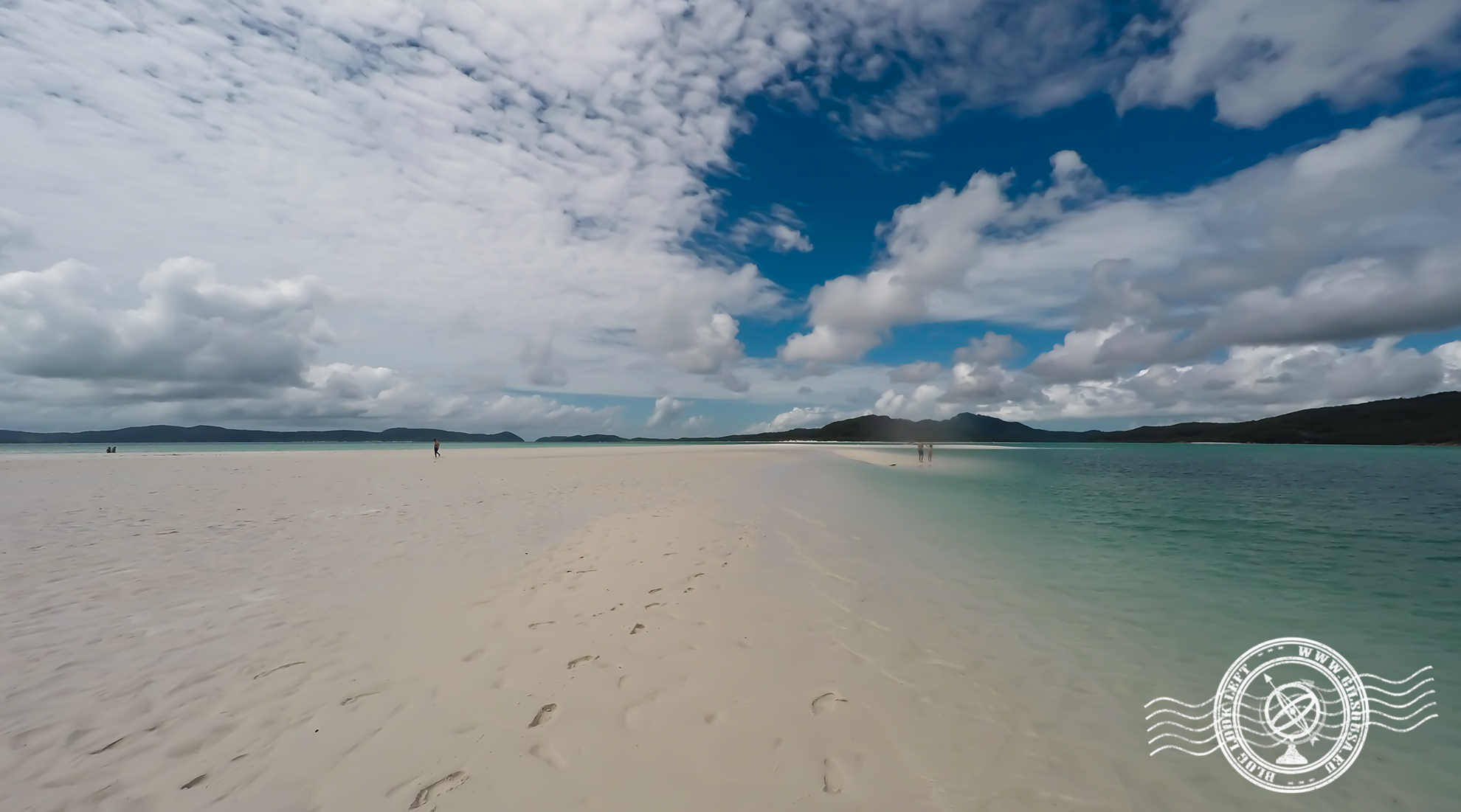 Vista na praia Whitehaven Beach