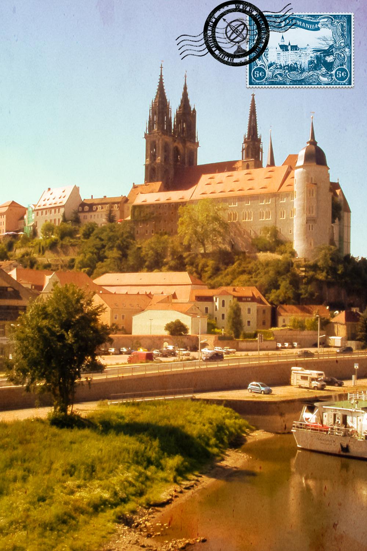Vista para a catedral de Meißen