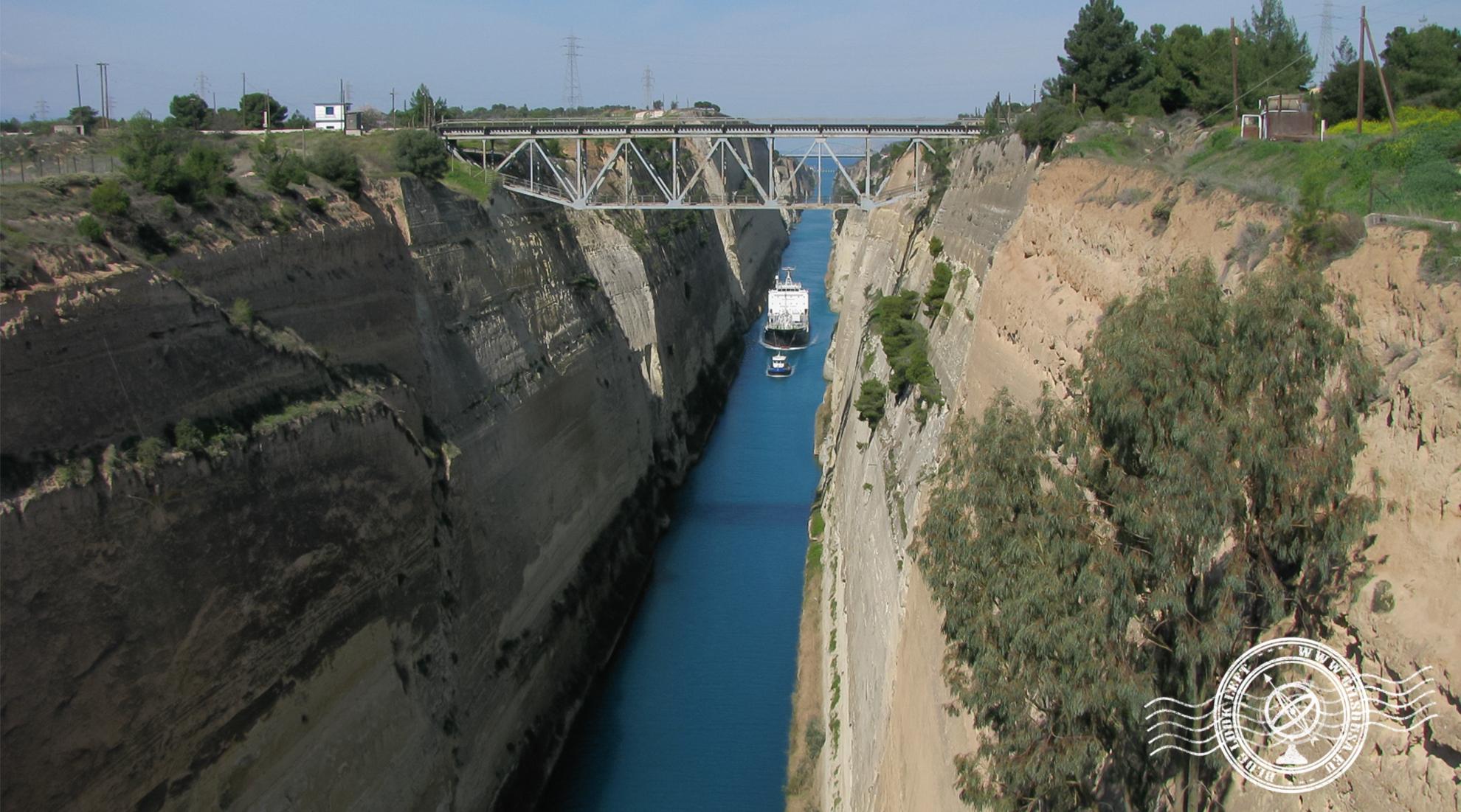 Vista sobre o canal de Corinto