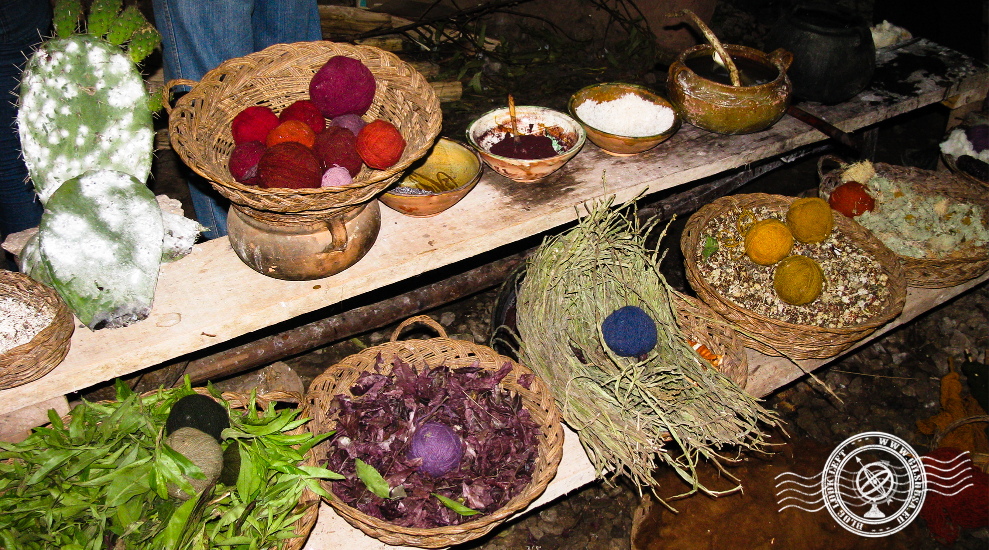 Wool and natural and traditional dyes