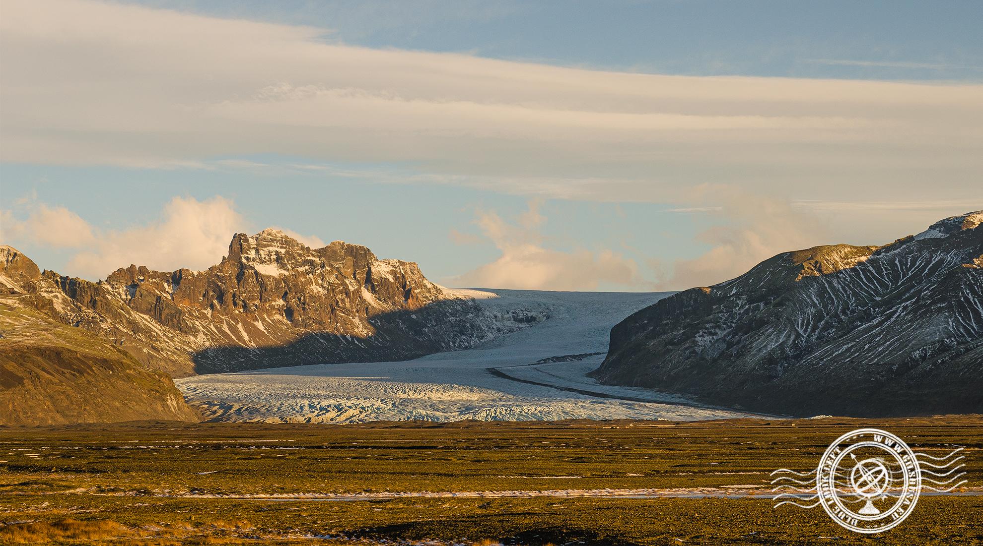 Braço do Glaciar no Sul da Islândia