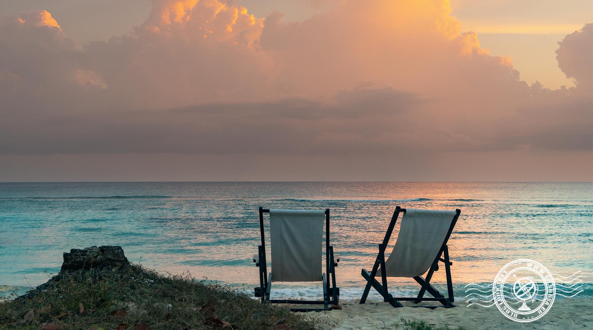 Beach chairs in Playa Girón