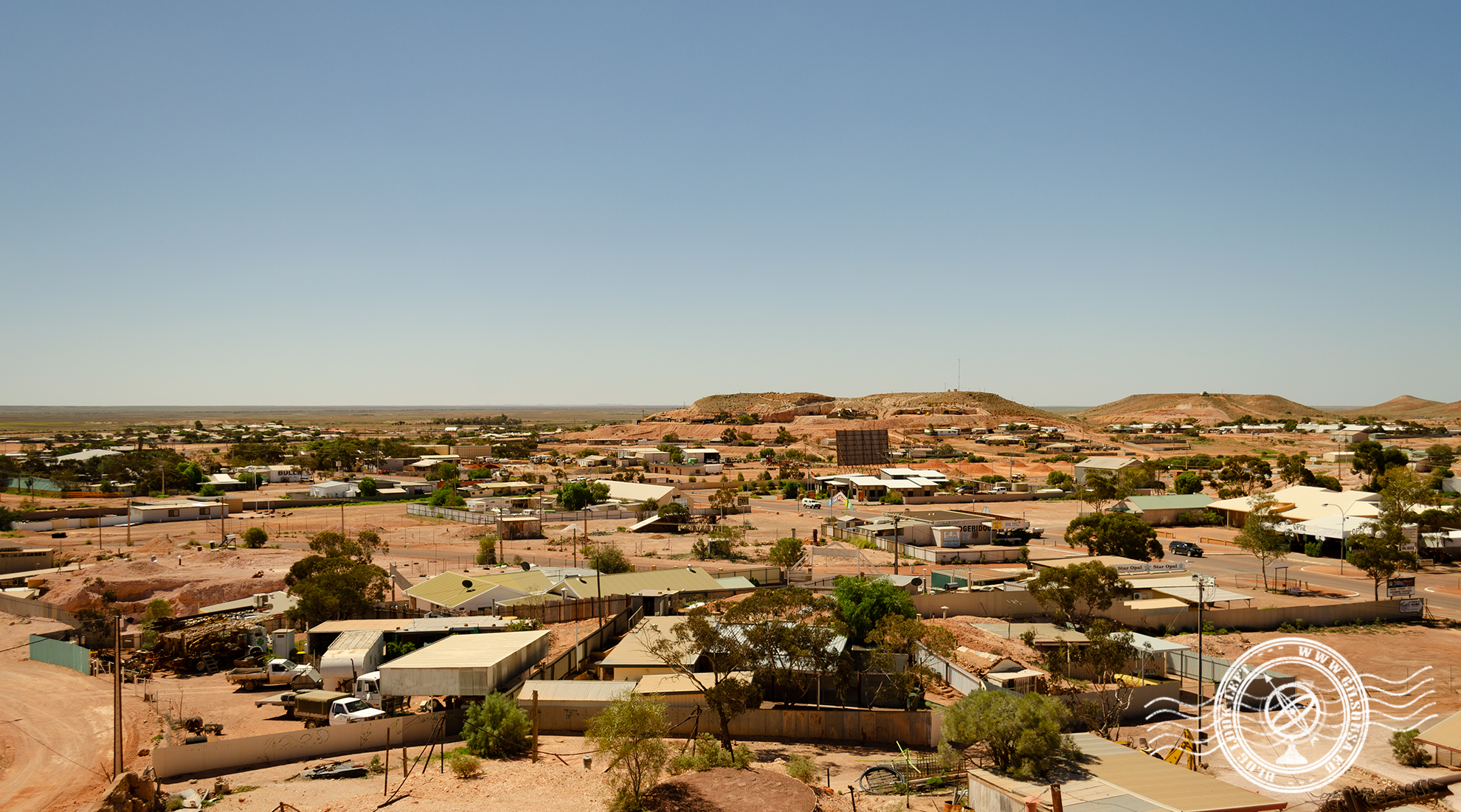 Coober Pedy, famous for the opals mines in the center of Australia