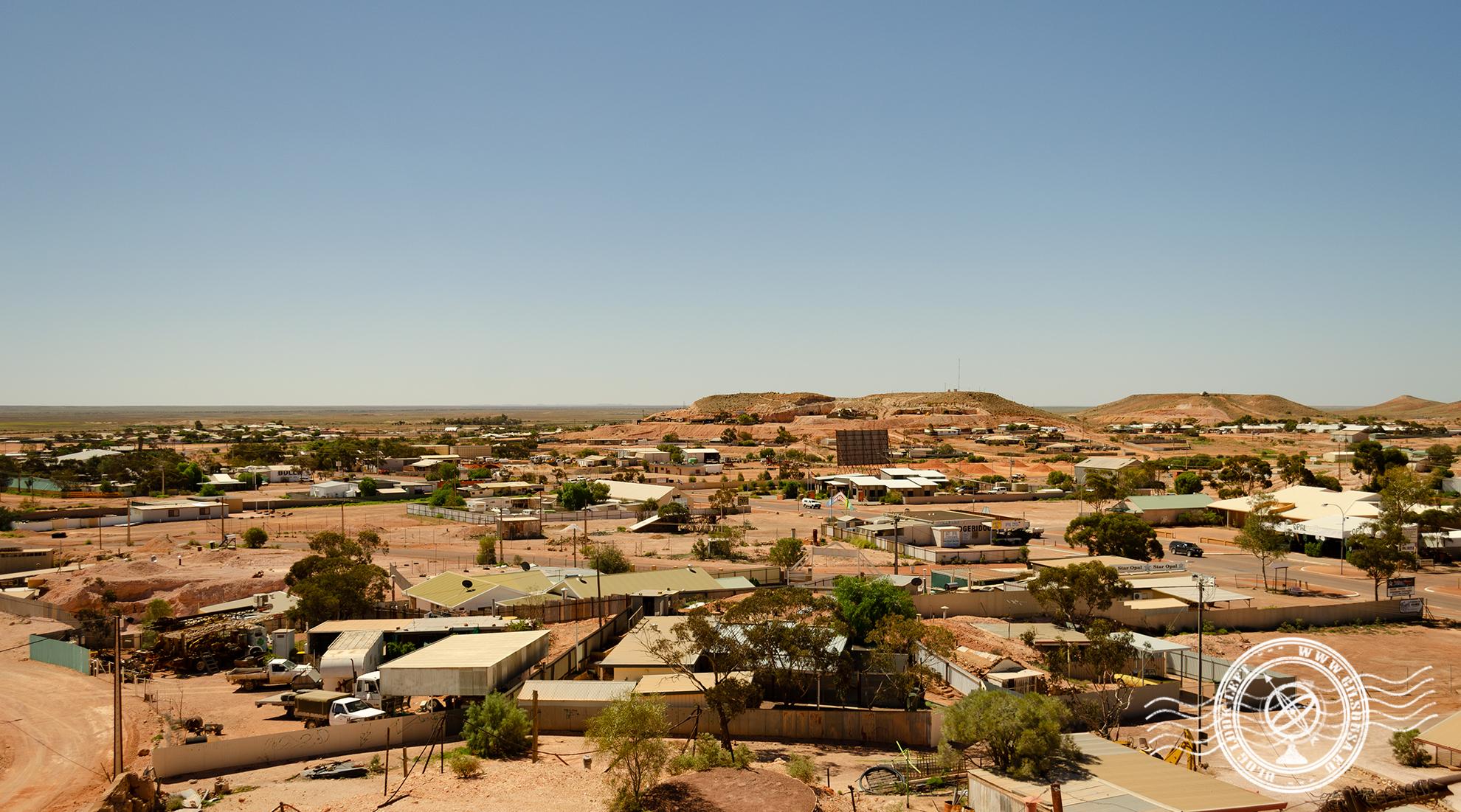 Coober Pedy, cidade mineira de opalas no centro da Austrália
