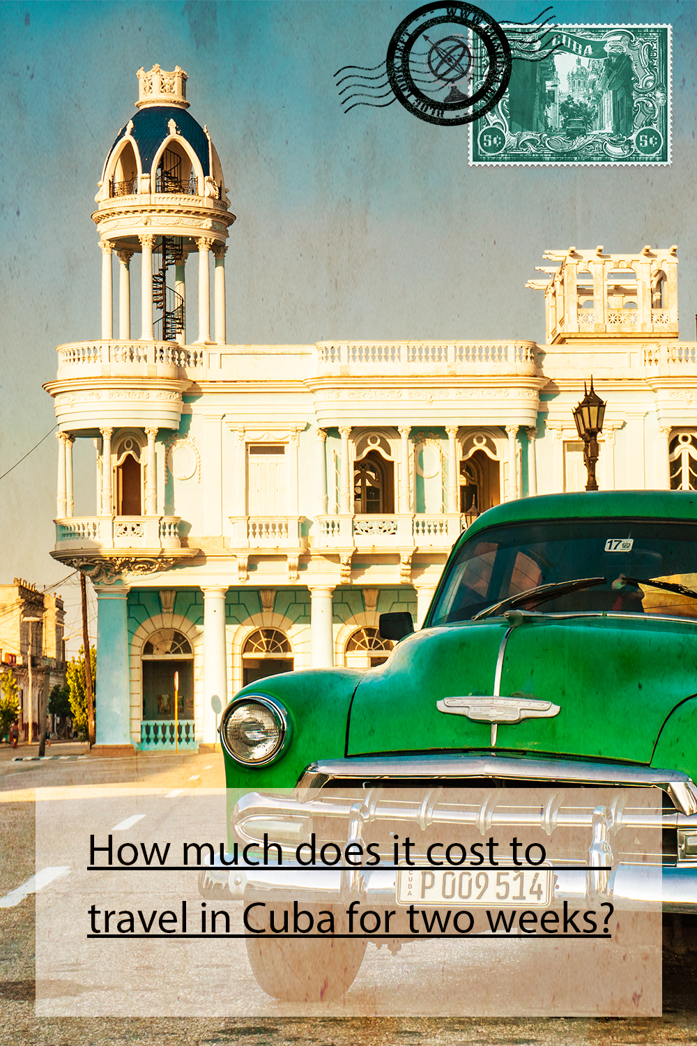 How much does it cost to travel in Cuba for two weeks?
