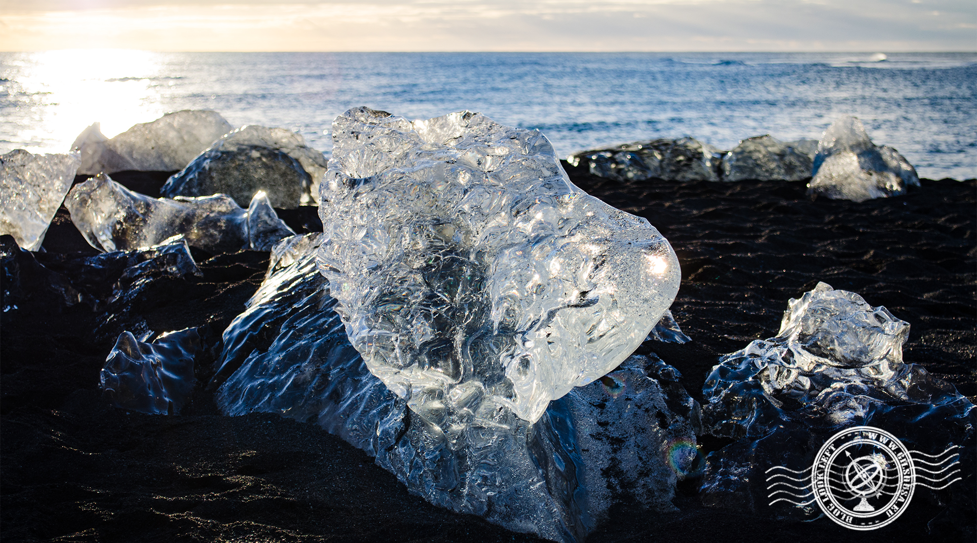 Iceberg na Diamond Beach