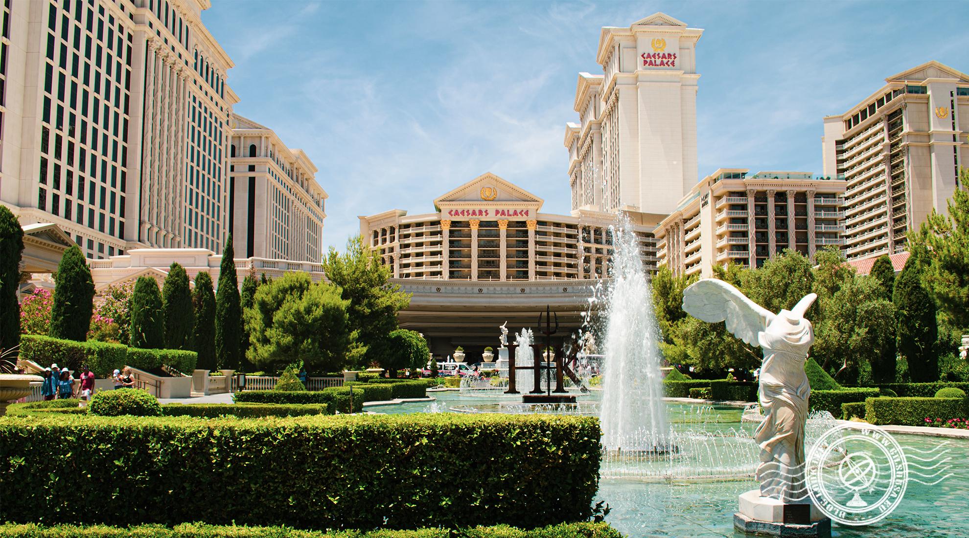 Vista para o Casino Caesars Palace
