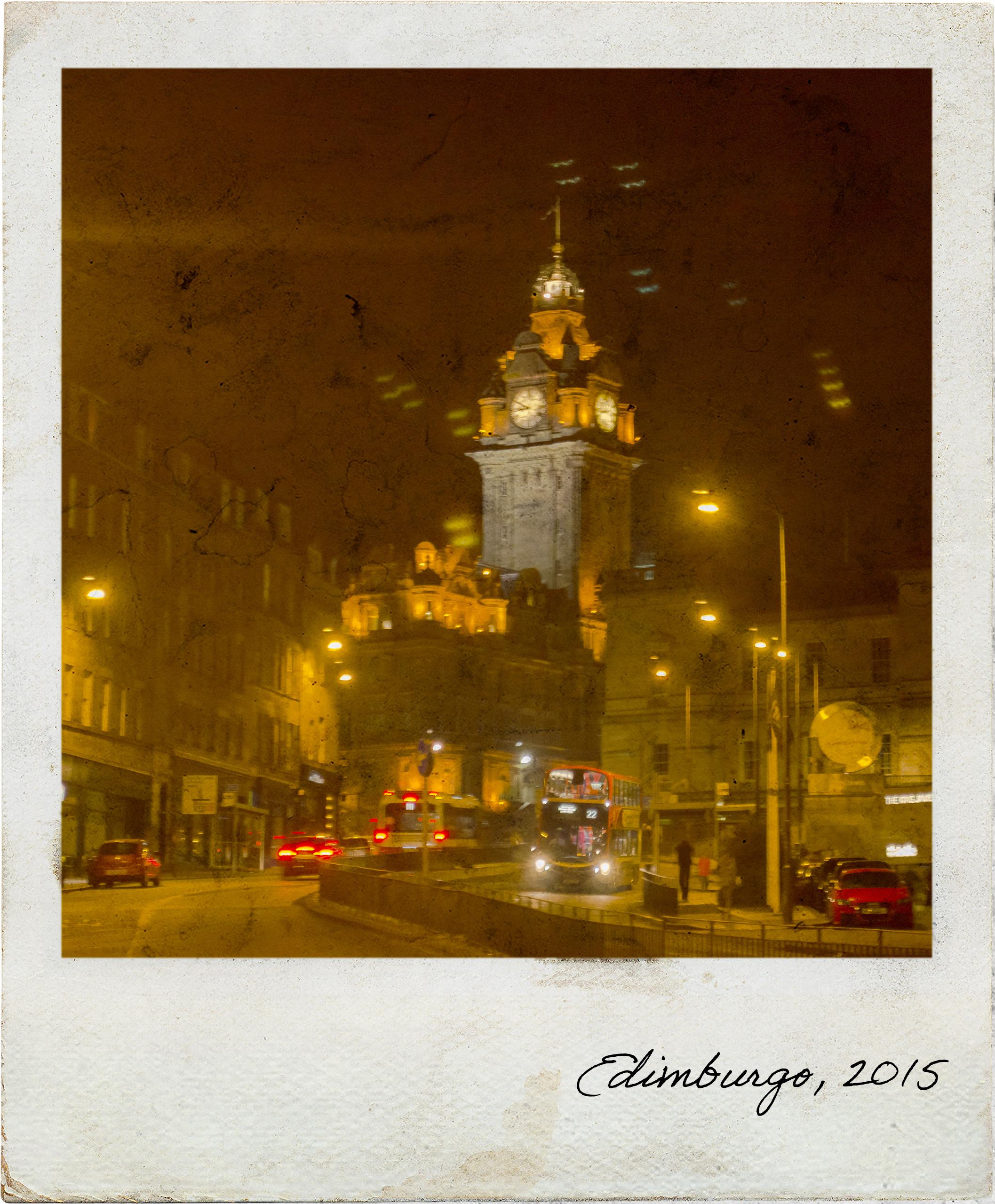 Somewhere in Edinburgh at night