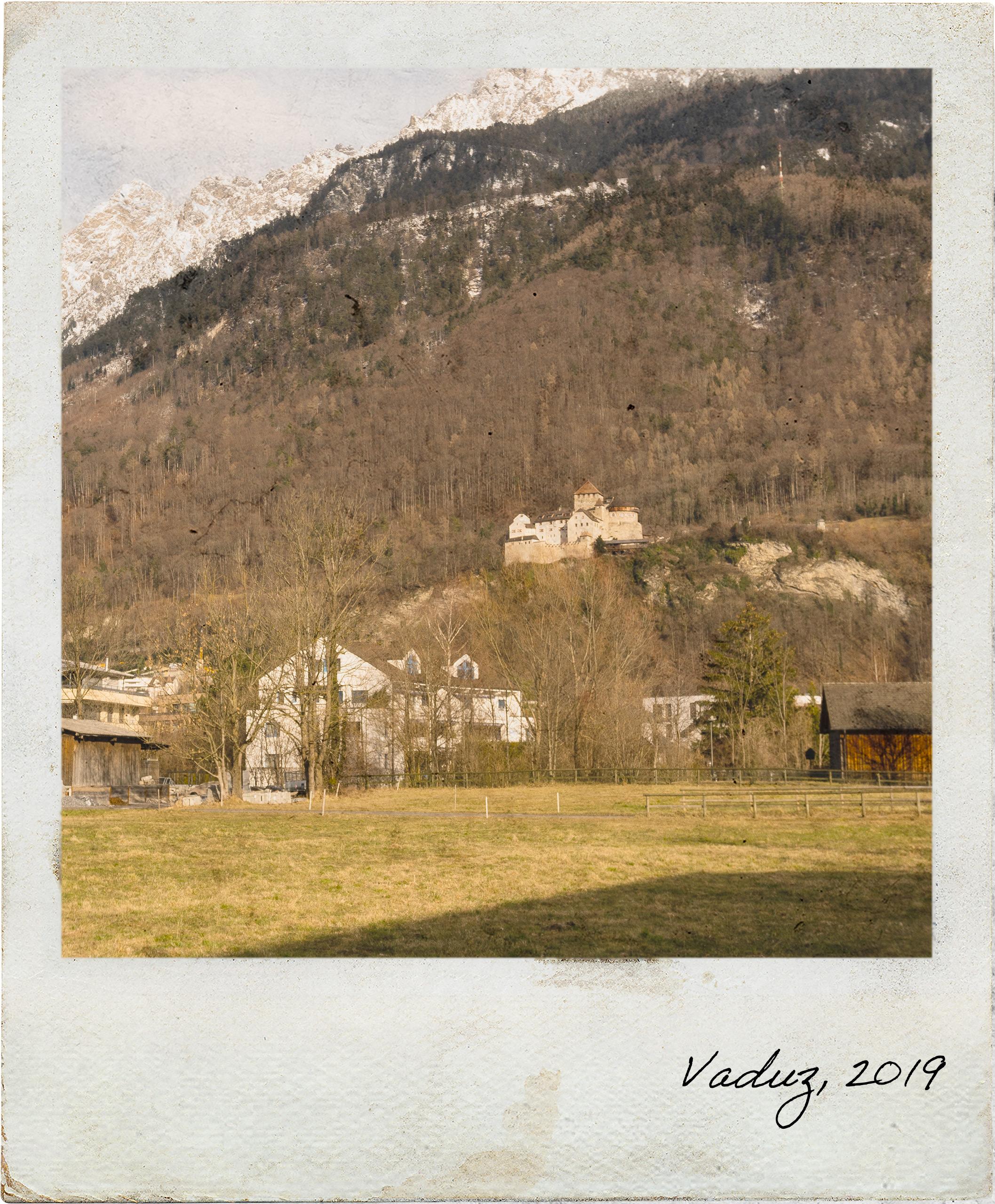 Vista para o Castelo de Vaduz
