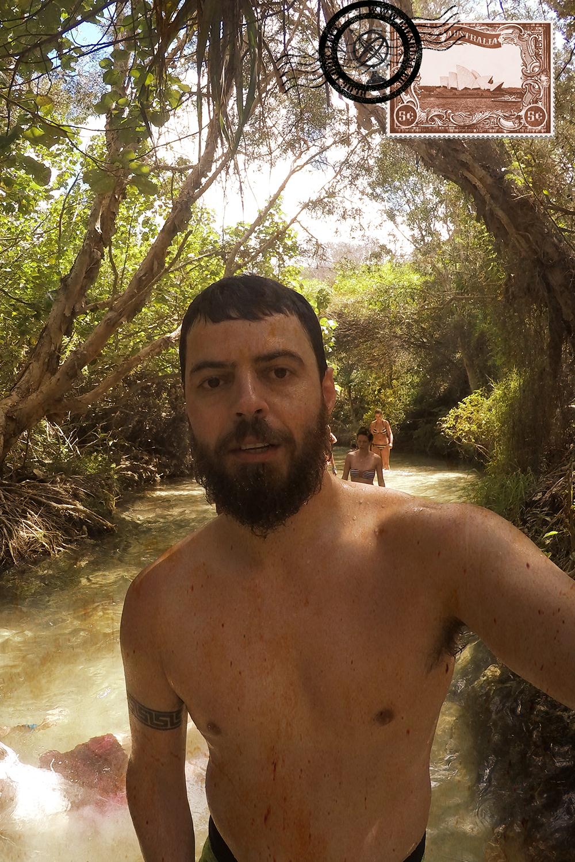 Walking in Eli Creek