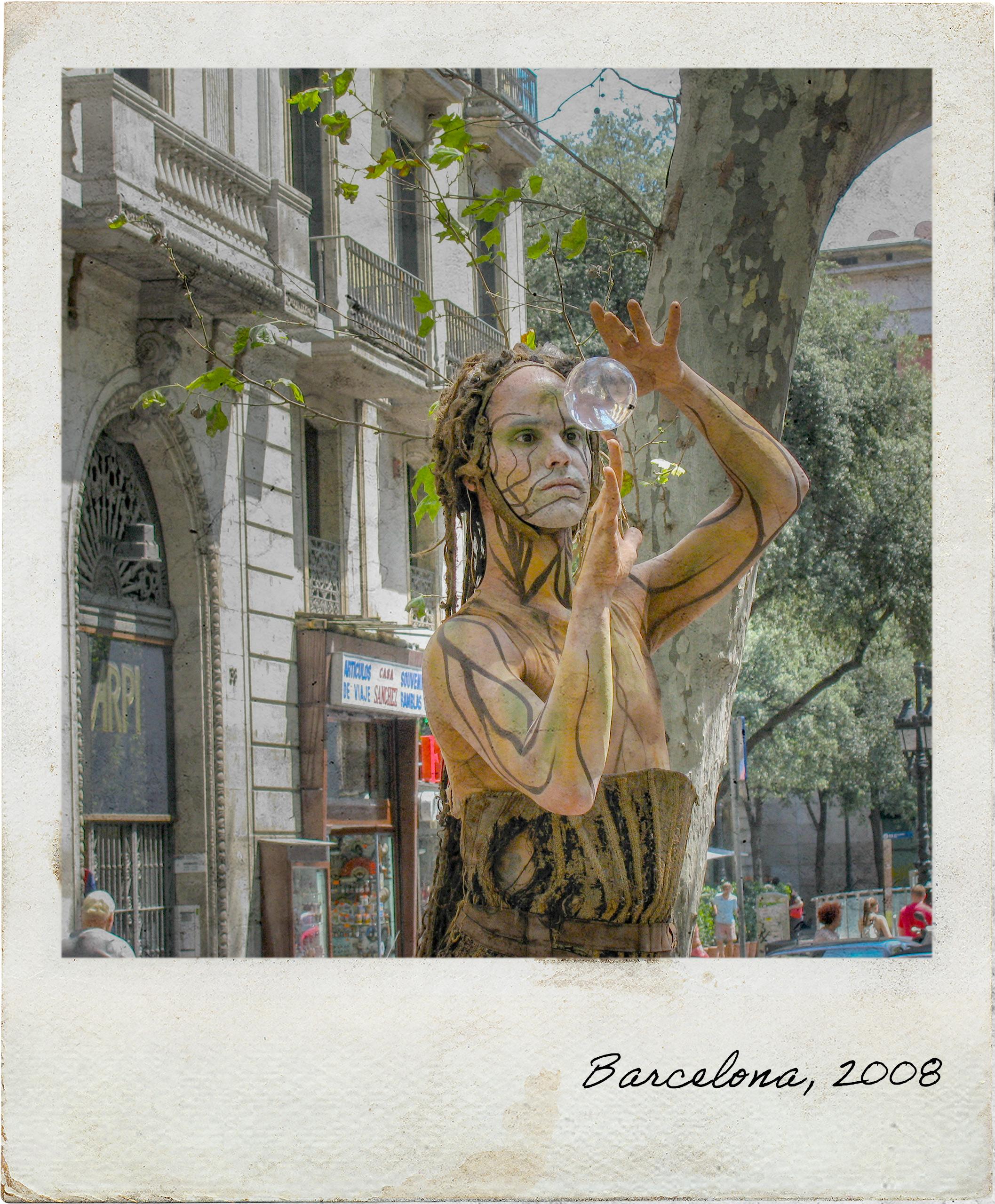 Artista em La Rambla