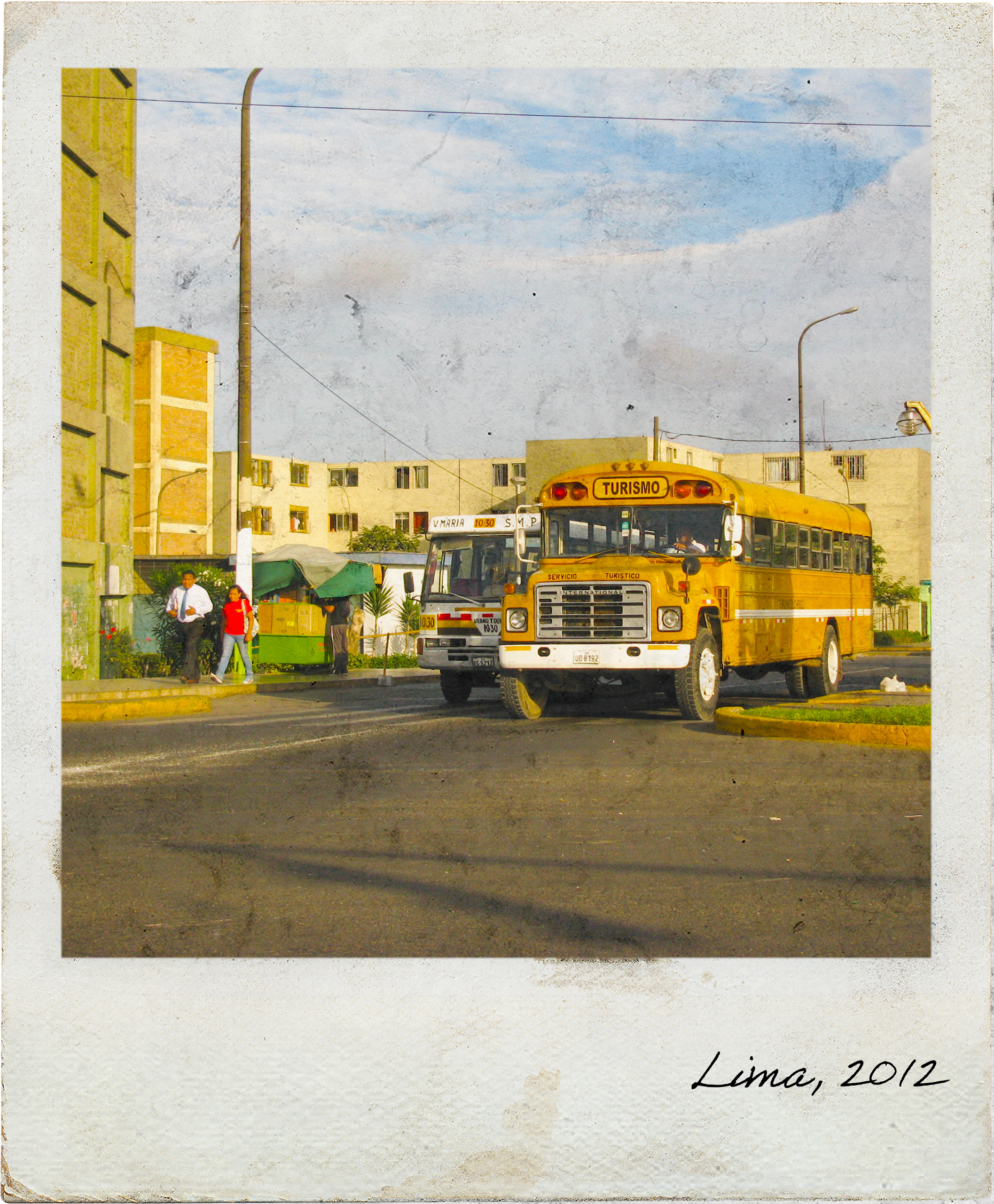 Old bus in Lima