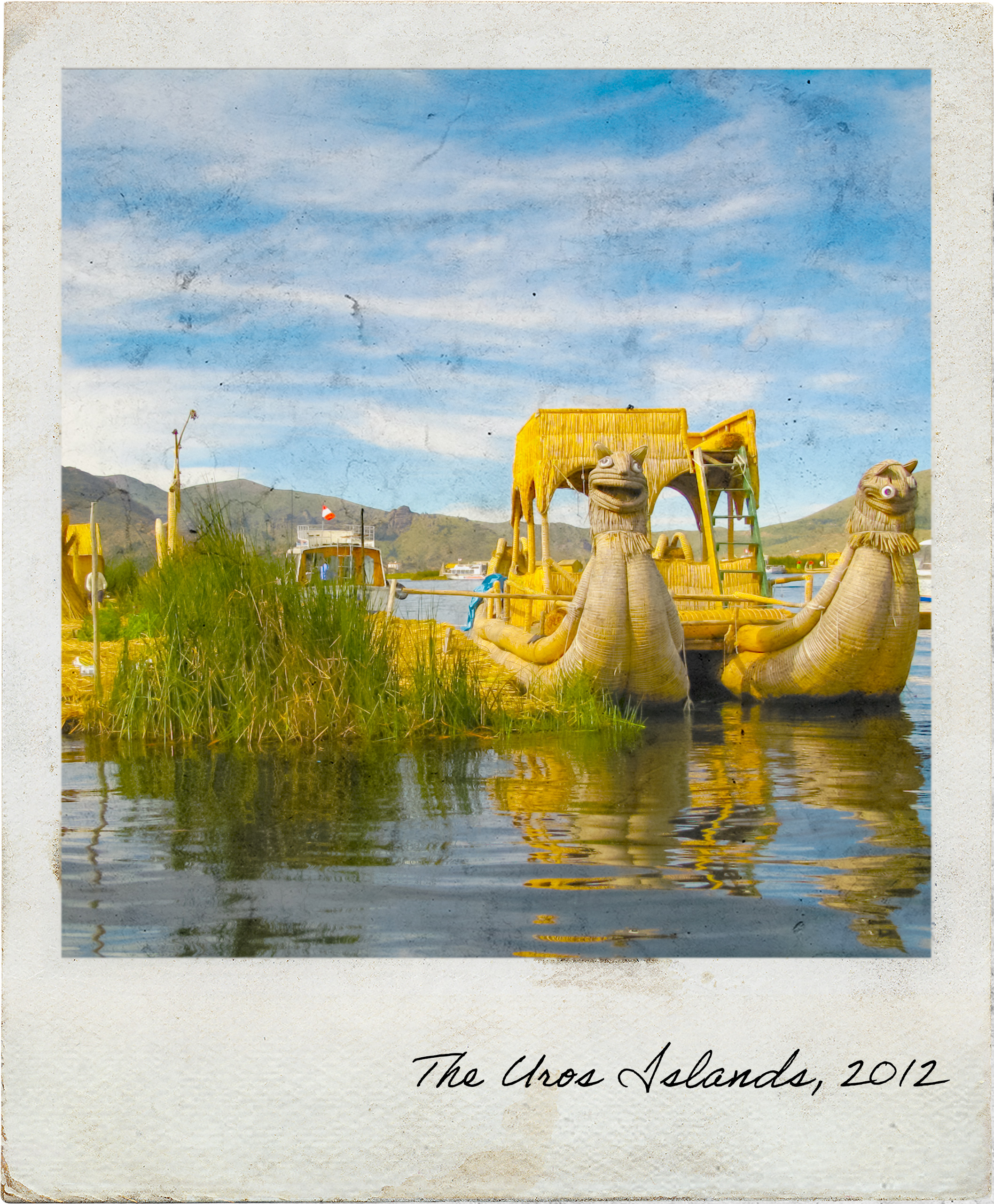 Reeds boat in the Uros Islands