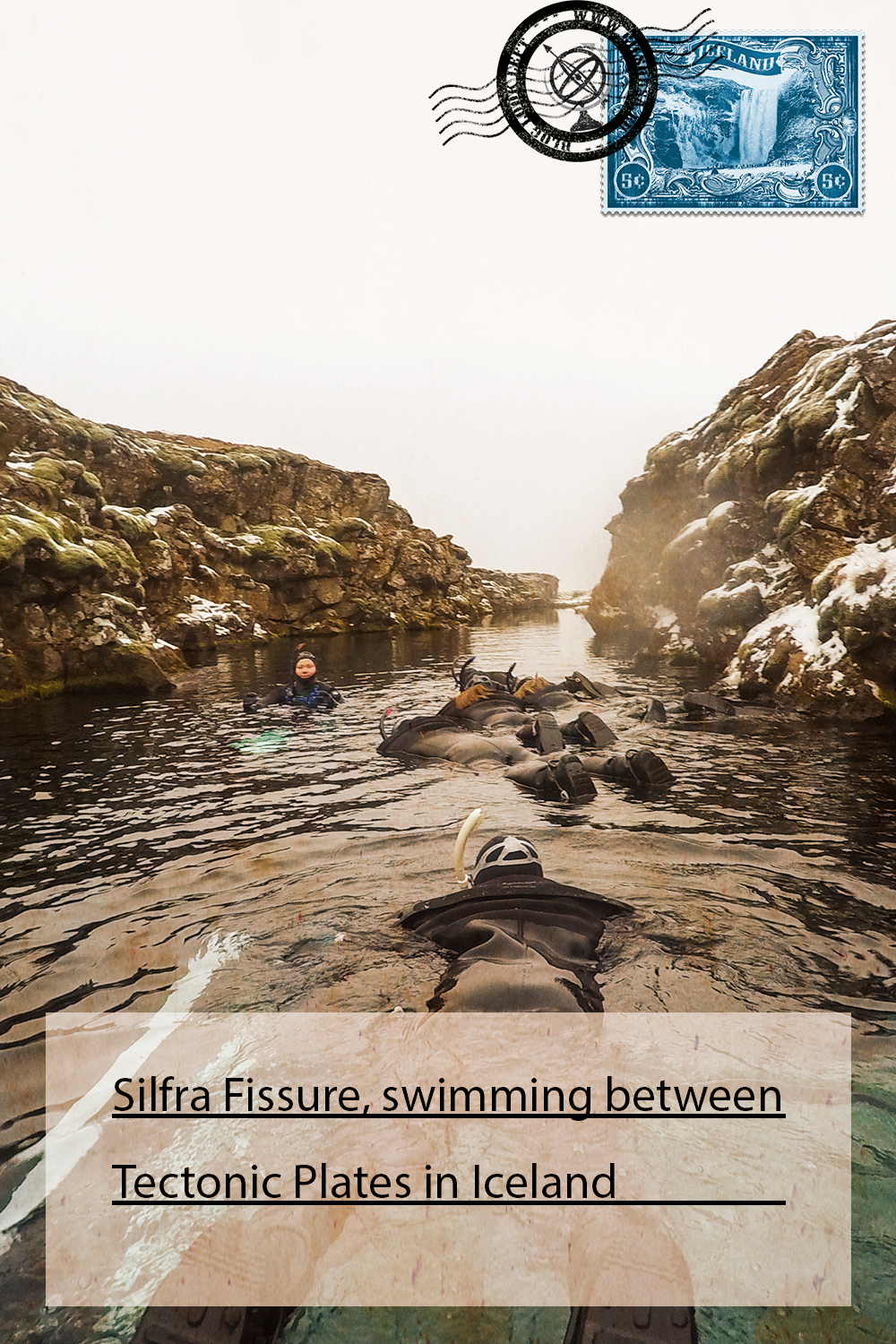 Silfra Fissure, swimming between Tectonic Plates in Iceland