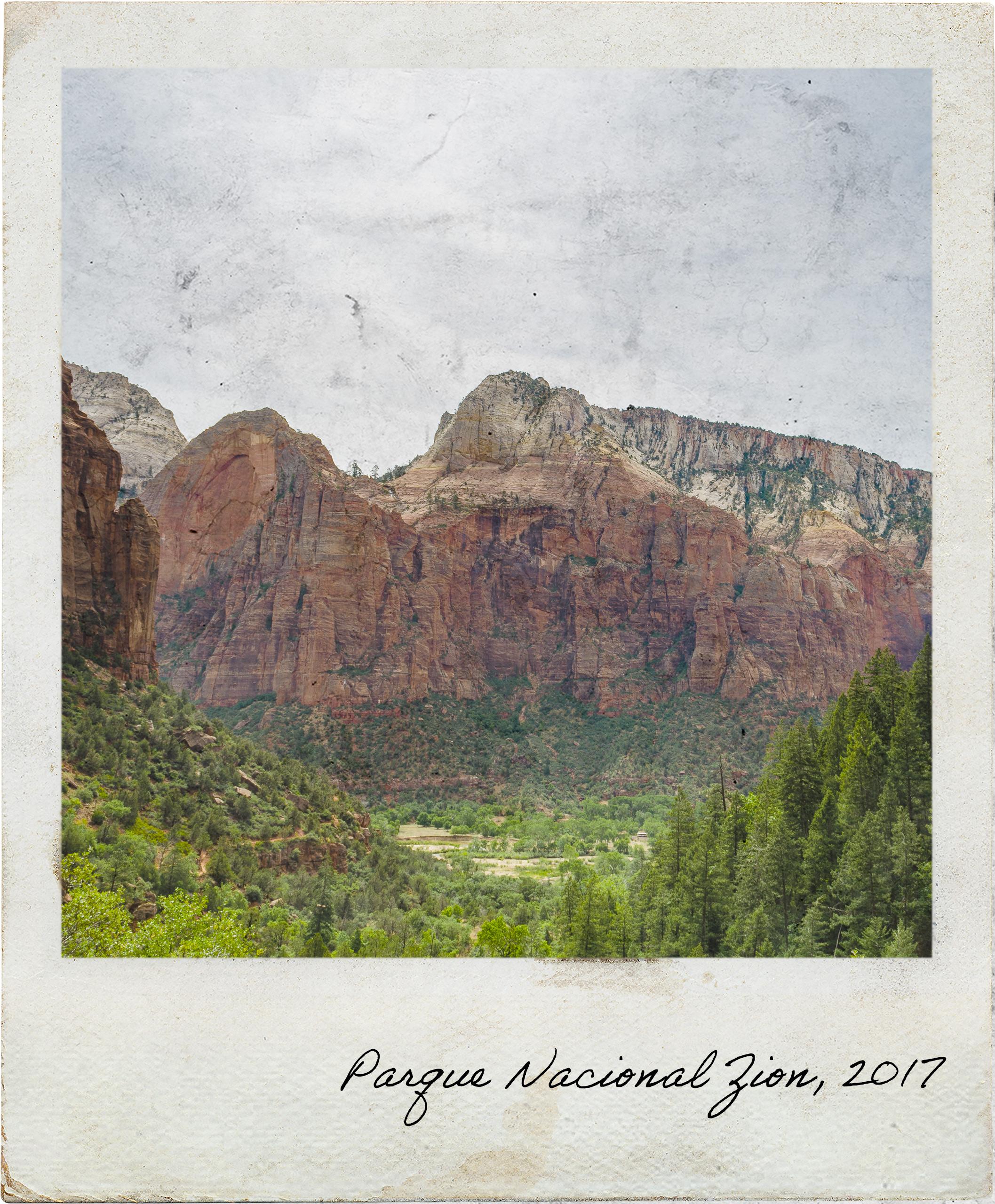 Vista para parte do Vale do Parque Nacional Zion
