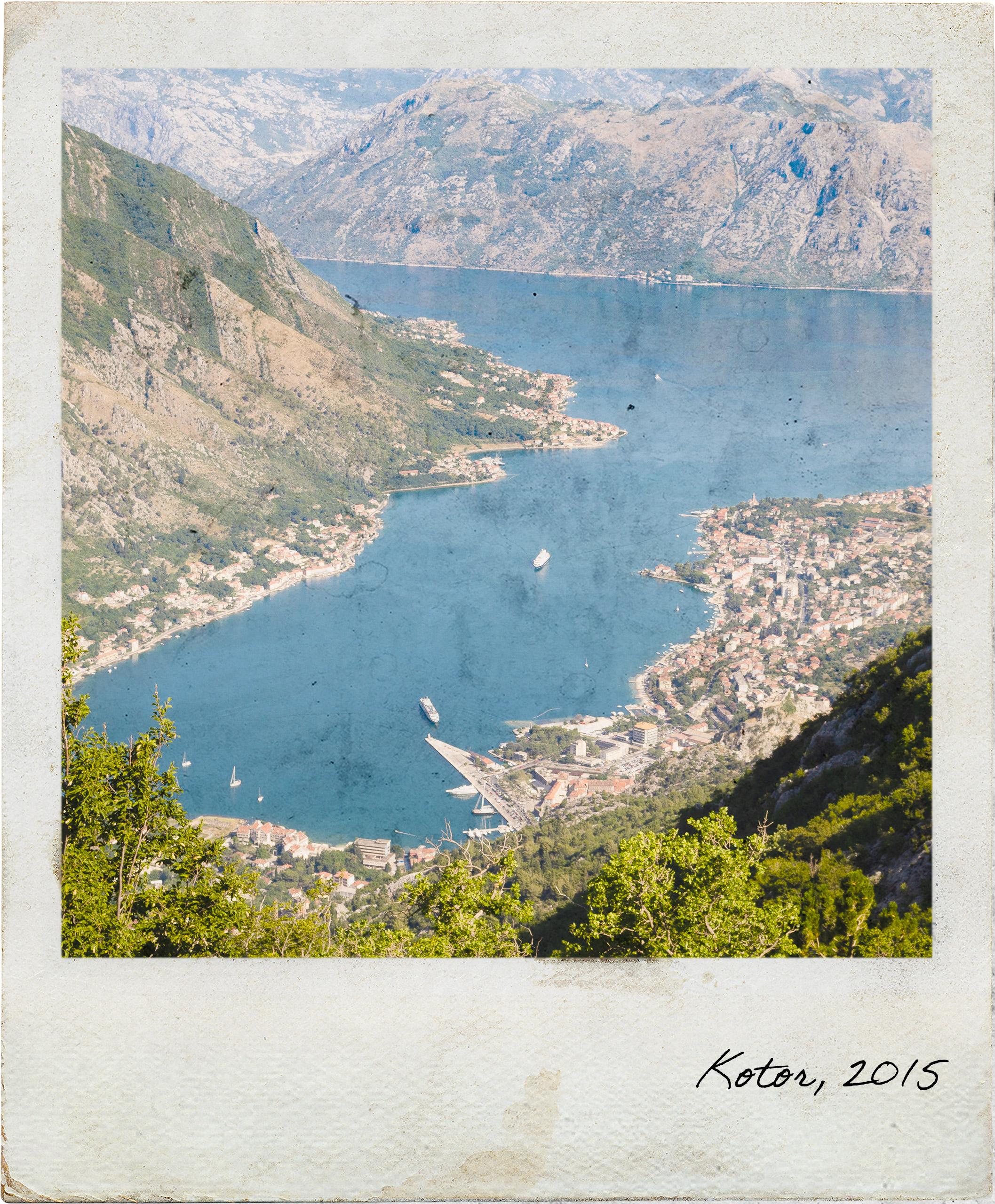 Vista sobre a Baía de Kotor