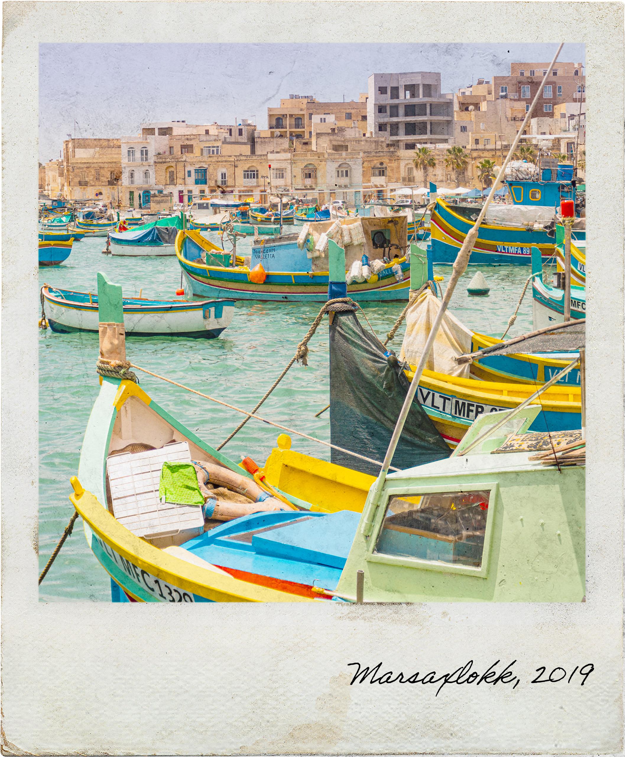 Barcos de pesca na baía de Marsaxlokk