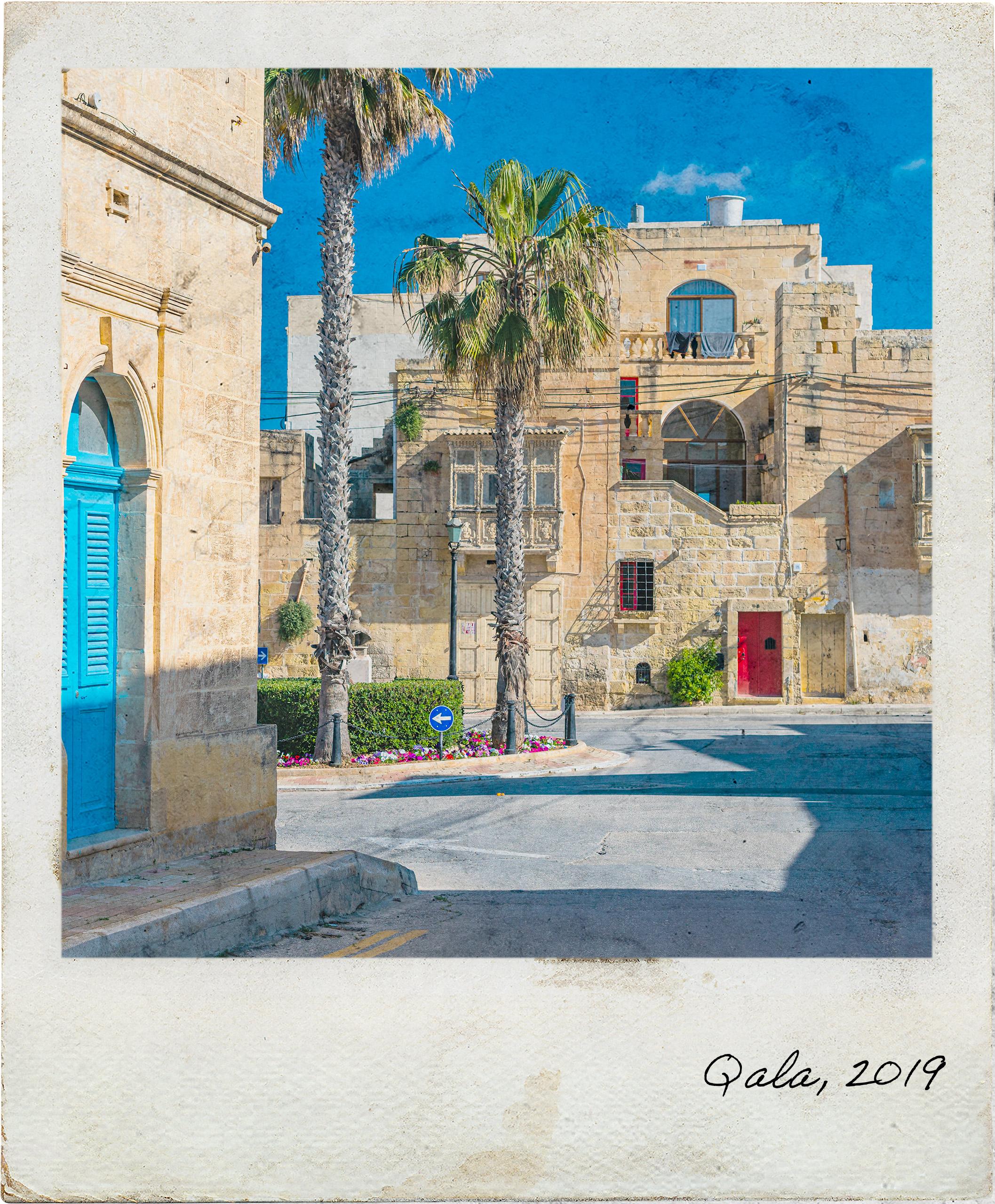 Edifícios antigos em Qala, ilha de Gozo