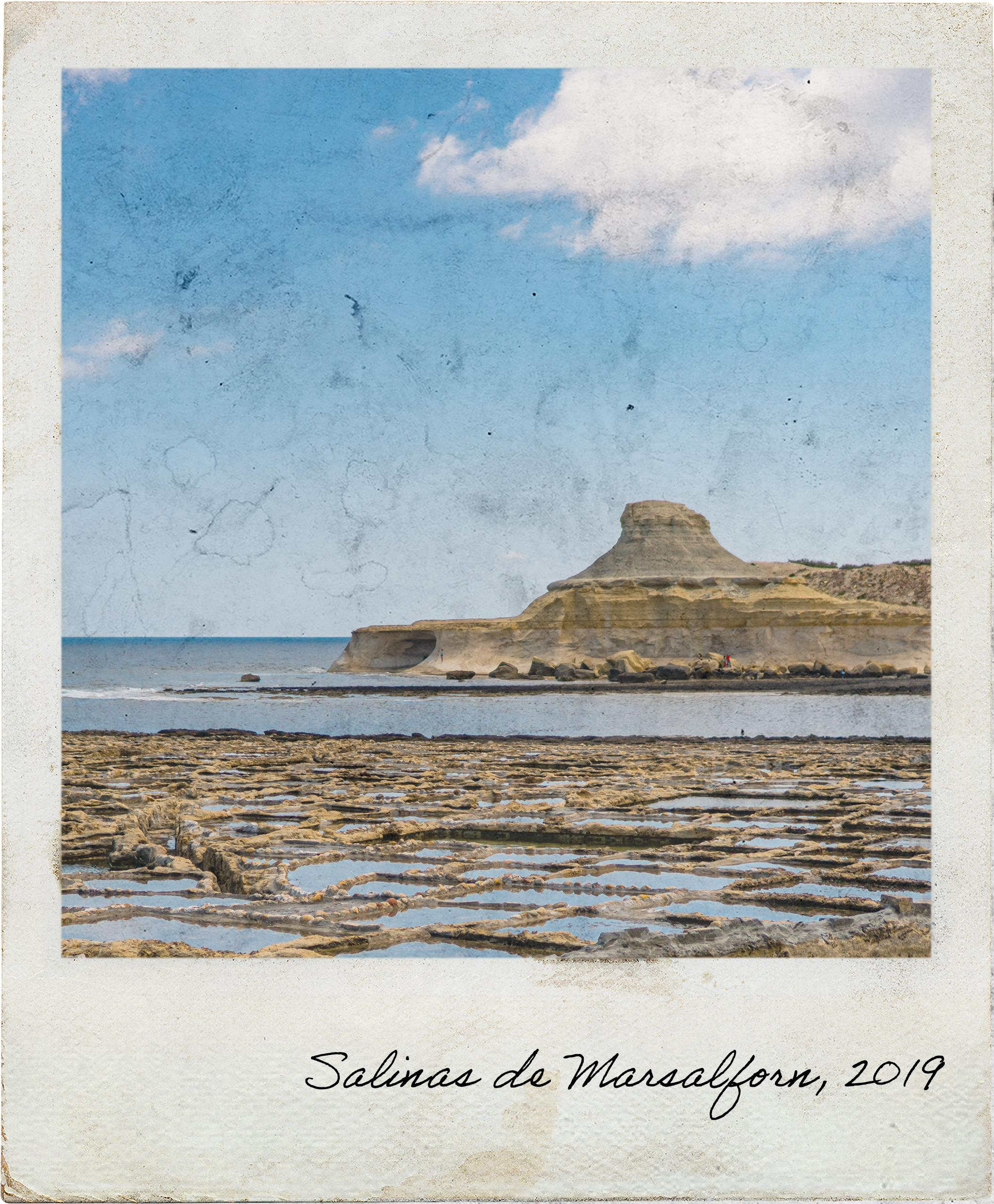Salinas de Marsalforn junto ao mar